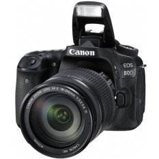 Canon EOS 80D - 24.2MP - Kit EF-S 18-200mm IS - Hitam