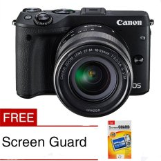 Canon EOS M3 24.2 MP Digital Camera with EF-M 15-45mm F3.5-5.6 IS STM Lens Black Free Screen Guard