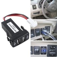 Car 12V 2.1A Dual USB Port Socket Charger For Toyota VIGO Phone PDACS-270