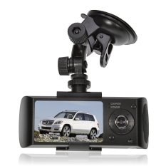 Car Camcorder DVR Video Recorder 2.7 Inch TFT LCD Screen X3000 Dual Lens Dash Camera Car DVR GPS CAM Camera Video Recorder Built-in Gravity G-sensor And Microphone / Speaker With 120 Degrees High Resolution