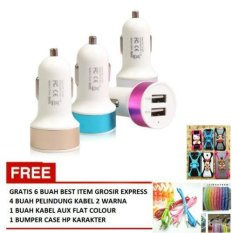 Gratis 4 Pelindung Kabel 2 Warna 1 Kabel Aux Flat Colour 1 Bumper . Source · Source · Kabel. Source · Car Charger 2 Port USB Multicolour Gra.
