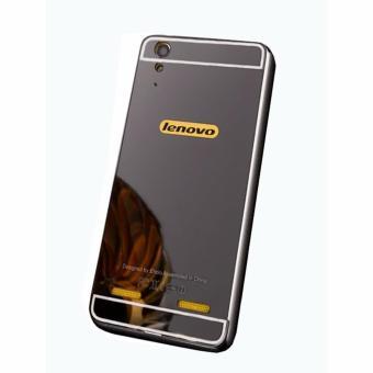 Case Aluminium Bumper Mirror for Lenovo A6000 - Black