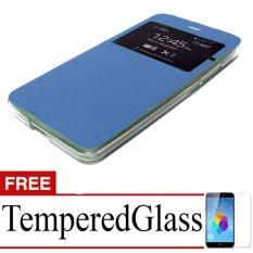 Case Flipcover For Samsung Galaxy J5 (2016) + Free Temperedglass - blue