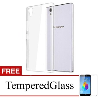 Case for Lenovo Vibe P1 Turbo - Clear + Gratis Tempered Glass -Ultra Thin Soft Case