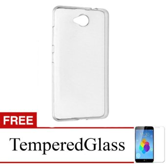 Case for Smartfren Andromax Qi - Clear + Gratis Tempered Glass - Ultra Thin Soft Case