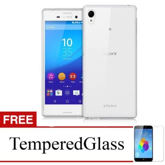 Case For Sony Xperia L / C2105 - Clear + Gratis Tempered Glass -Ultra Thin Soft Case
