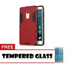 Case Kickstand Hybrid Armor Iron Man PC+TPU Back Cover Case for Xiaomi Redmi Note