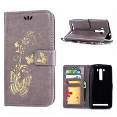 Case kulit untuk Asus ZenFone 2 Laser ZE500KL 12,7 cm Bronzing Butterfly sandal dompet