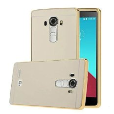 Case LG G4 Alumunium Bumper With Mirror Backdoor Slide - Emas