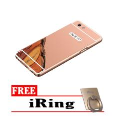 Case Metal for Oppo F1s A59 Aluminium Bumper With Mirror Backdoor Slide Rose .