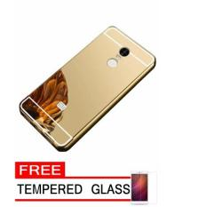 Case untuk Samsung Galaxy V V Plus Aluminium Bumper With Mirror Backdoor Slide Rose .