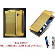 Case Mirror Flifcase Cover S View Transparan Auto Lock Samsung Galaxy S8 PLUS Cover S View