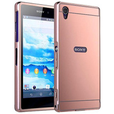 ... Gratis Tempered Glass. Source · Case Sony Xperia Z3 Alumunium Bumper With Mirror Backdoor Slide- Rose gold
