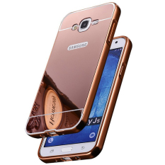 Casing Metal Bumper Mirror for Samsung Galaxy J5 - Rose Gold
