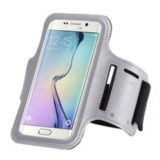 "Cell Mobile Phone Waterproof Armband Sports Running Case Belt Holder GYM Arm Bag Band For Samsung S5 / S6 / S6 Edge Universal 5.2"" (Grey) (Intl)"