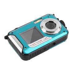 CHEER Digital Camera Waterproof 24MP MAX 1080P Double Screen16x Zoom Camcorder Blue