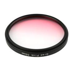 CHEER Universal 58mm Filters Circo Mirror Lens Gradient UV For DSLR Camera Lens Pink