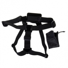 Chest Body Strap With Collection Bag For SJCAM SJ4000 SJ5000 SJ5000X X1000 Gopro (Black)