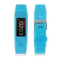 Classic Buckle Wristband Replacement Bracelet Silicon Strap For Garmin Vivofit 2 Blue - Intl