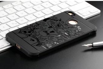 Cocose Drop Resistance Armor Carved Dragon Silikon Back Case For Xiaomi Redmi 4X - Black +