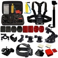Cognos C-MAX 8 Action Camera Medium Include 30 Pcs Accessories Cam Bag for Action Camera