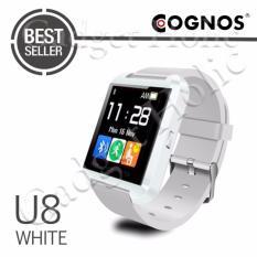 Cognos U Watch U8 Smartwatch - Jam Tangan Pria - Putih - Rubber