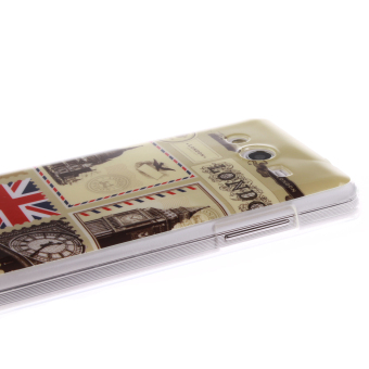 Silicone Soft Case Cover Skin Protective For Samsung Jual Colorful London Envelope Printed .