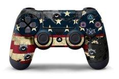 Controller Designer Skin For Sony PlayStation 4 DualShock Wireless Controller - Battle Torn Stripes
