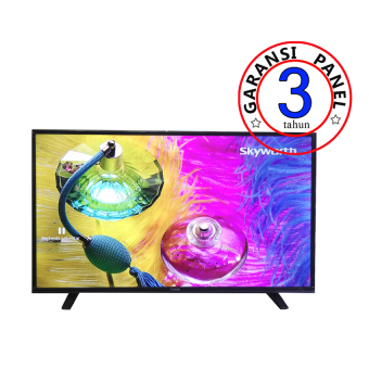 "Coocaa 24"" LED TV 24E100 - Hitam"