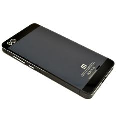 Cover Backcase Tempered Glass Hard Case Aluminium For Xiaomi Mi4i / Mi4C - Hitam
