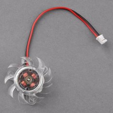 Cyber 35mm 2 Pin VGA Equilateral Triangle Computer PC Video Card Cooler Cooling Fan