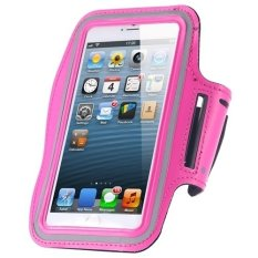 Cycling Running Mobile Sport Adjustable Strap Arm Band Case Cover For IPhone 6 6S Plus (Pink)