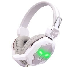 Deep Bass Portable Audio Earphone Headphone (White / Grey) - Intl