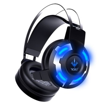 Deep Bass Protable Audio Earphone (Black + Blue) Luminous