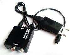 Digital Optical Toslink SPDIF Coax Untuk Analog Soket RCA Audio Converter 3.5 Adapter - INTL
