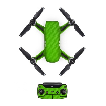 Drone Colorful Luxury Carbon Fiber Skin Wrap Waterproof Stickers Cover For DJI SPARK Accessories - intl