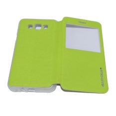 Easy Bear Leather Case Sarung Untuk Samsung Galaxy E7 E700 Flipshell/ Flipcover - Hijau