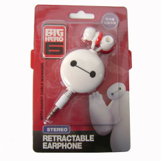 EELIC Cute Headphone Earphones Creative Cartoon Portable Automatic Retractable with Handy Cable Manager (White) (Intl)