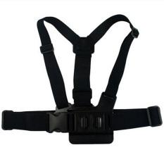 Elenxs Elastic Body Chest Harness Strap Mount Belt 3-Way Adjustment Gopro Hero 1 2 3 (Black) (Intl)