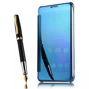 Executive Case Samsung Galaxy J7 Prime Flipcase Flip Mirror Cover S View Transparan Auto Lock Casing
