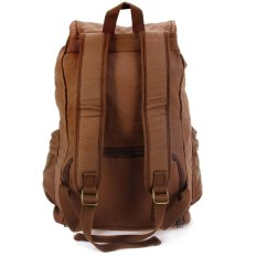 F5 Camera Canvas Backpack with Removable Inner Bag Rain Cover Coffee (Intl)