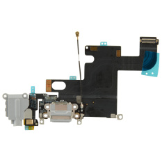 Fancytoy Gray Charging Port Tail Plug Audio Flex Cable For Apple IPhone 6 - Intl