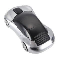 Fang Fang Hot USB Optical 2.4G Wireless Mouse Lamborghini Car Mice Mouse For PC Laptop - Silver