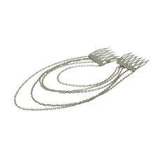 Fang Fang Tassels Chains Head Band (Silver)