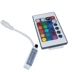 Fang Mini 3Key IR Remote kontrol Wireless untuk 5050 3528 RGB SMD LED strip (putih