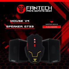 Fantech Mouse Gaming V4 + Fantech Speaker Gaming GS733 (Black)