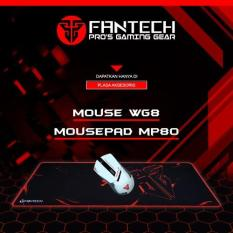 Fantech Mouse Wireless Gaming WG8 + Fantech Mousepad Gaming Big Size MP80