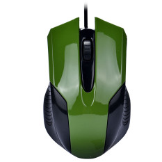 Fashion 1000 DPI USB Wired Optical Gaming Mice Mouse For PC Laptop Green - Intl
