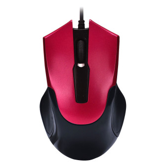 Fashion 1000 DPI USB Wired Optical Gaming Mice Mouse For PC Laptop (Red)