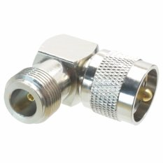 Fliegend 1pce UHF PL259 PL-259 Male To N Female Right Angle 90° Adapter Connector 16x16mm (Intl)